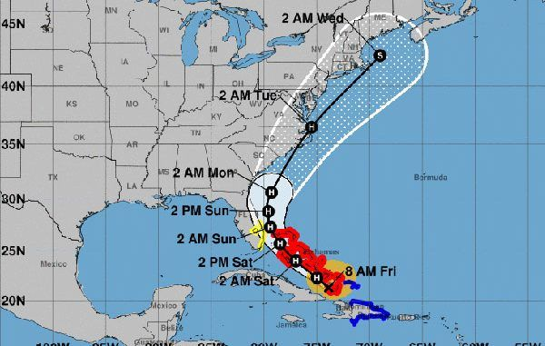 Hurricane Isaias Threatens Sebastian Florida In 2020 Hurricane Bad Storms Storm Surge