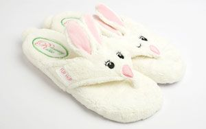 bunny spa sandals....