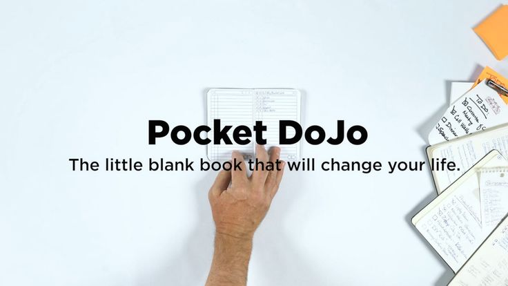 PocketDoJo: The little blank book that will change your life