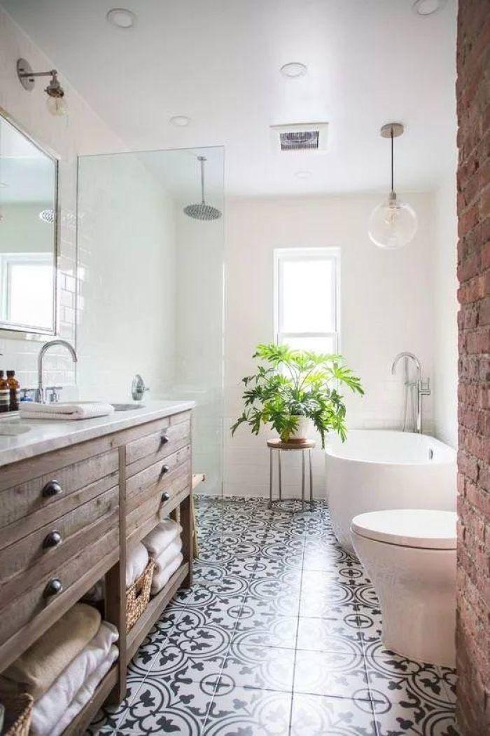 Patterned Bathroom Tile