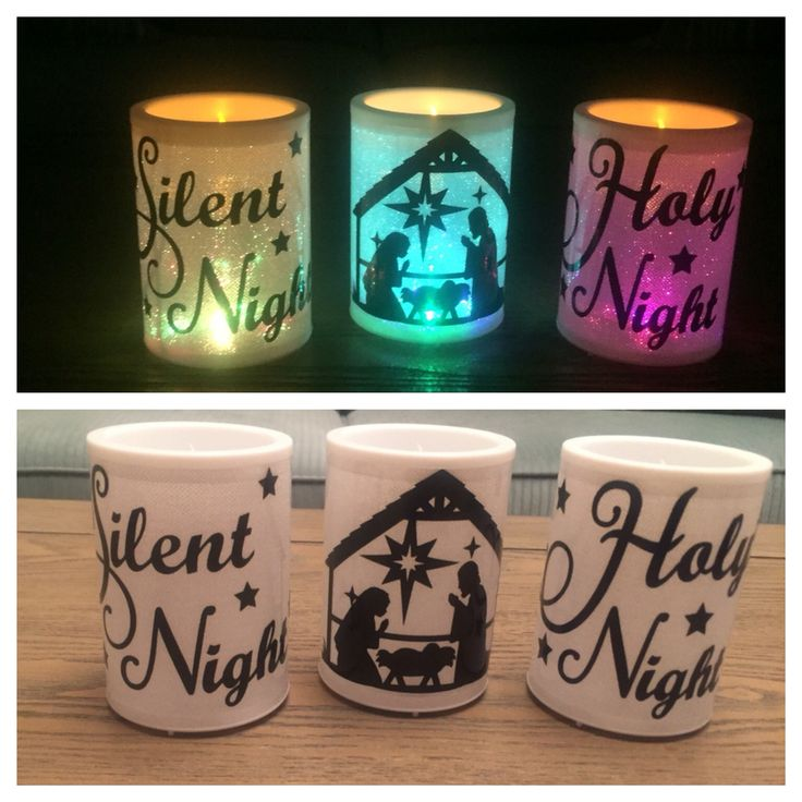 Dollar Tree candles with vinyl