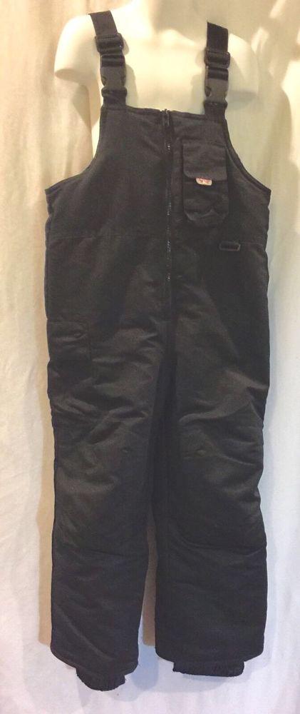 Cherokee Girls Cargo Snow Bib Ski Overall Pants Black Youth Kids XS #Cherokee #SnowBib