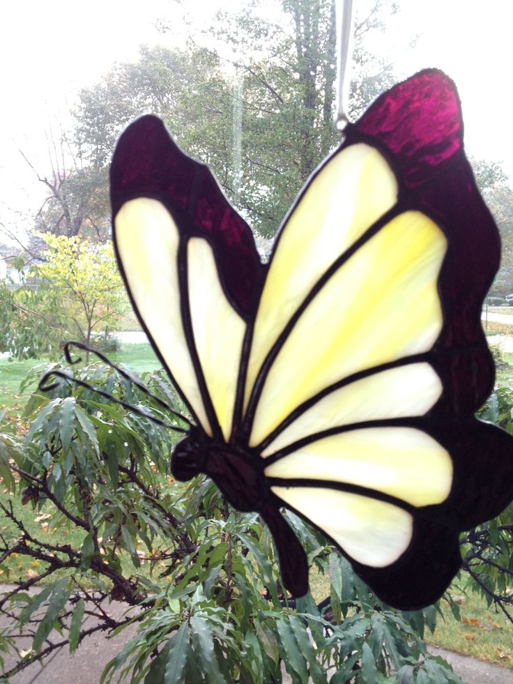 172 best stained glass butterflies dragonflies images for Butterfly stained glass craft