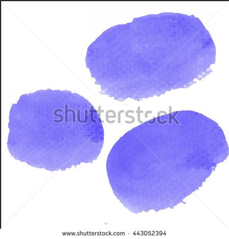 Water color brush on paper rough use for custom brush in Photo editor or use in commercial use 3 shape   violet color collection vector illustrations - stock vector