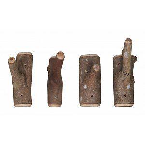 HK-living Haak bruin hout +/-13x6x23cm, Haken van takken (6,95)