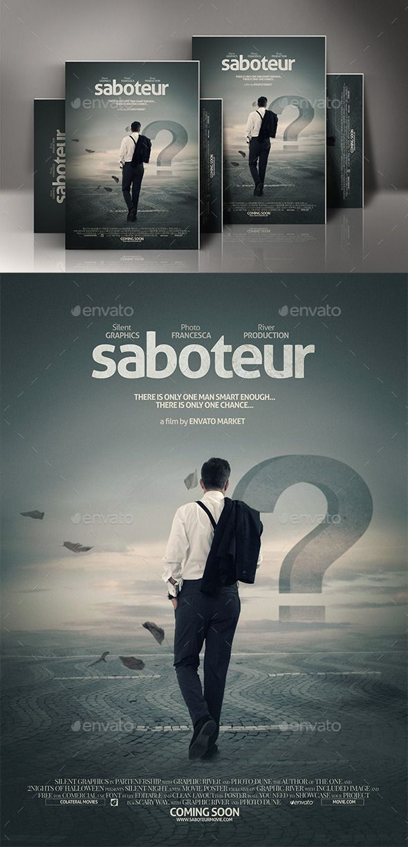 movie poster template psd