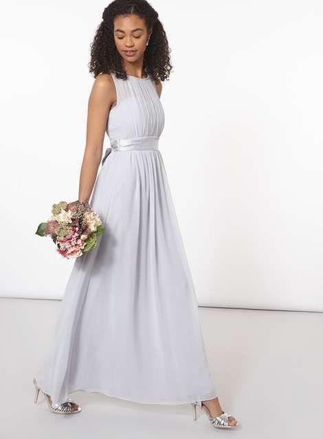 **Showcase Petite Dove Grey Natalie Maxi Dress - Occasionwear - Clothing - Dorothy Perkins