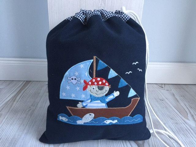 Kindergartentaschen - Traumhafter Turn-/Wäschebeutel - Pirat! - ein Designerstück von Goldfisch17 bei DaWanda