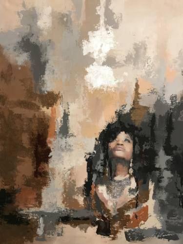 "Saatchi Art Artist Aria Dellcorta; Painting, ""High Above"" #art #artist #energy #painting #artforsale #gallery #soul #academicart #myart #original #interiordesign"