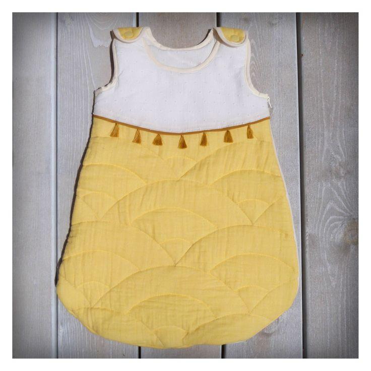 Gigoteuse bébé en double gaze de coton matelassée de la boutique VaCommeLeVent sur Etsy