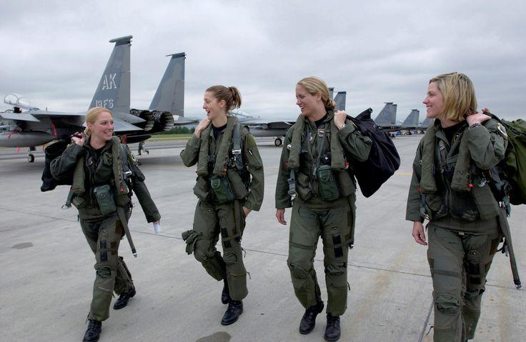 F-15 Eagle Female Pilots! Oh yeah!