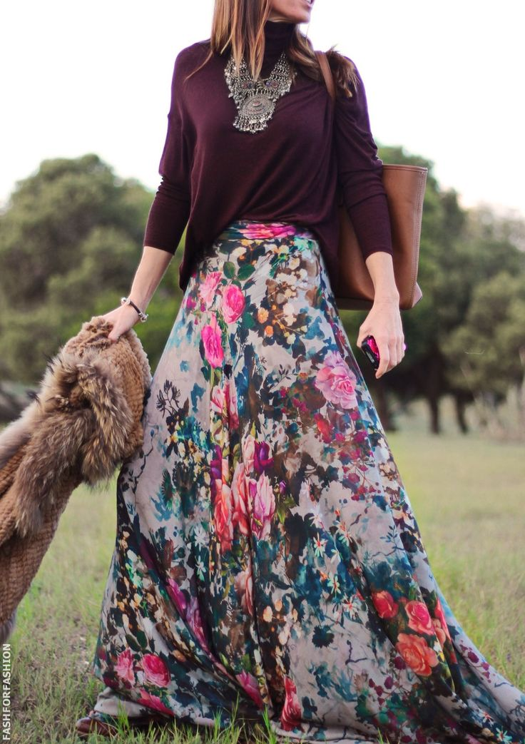 25  best Floral maxi skirts ideas on Pinterest | Long skirts with ...