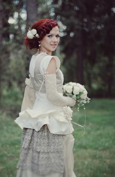Стимпанк свадебное платье