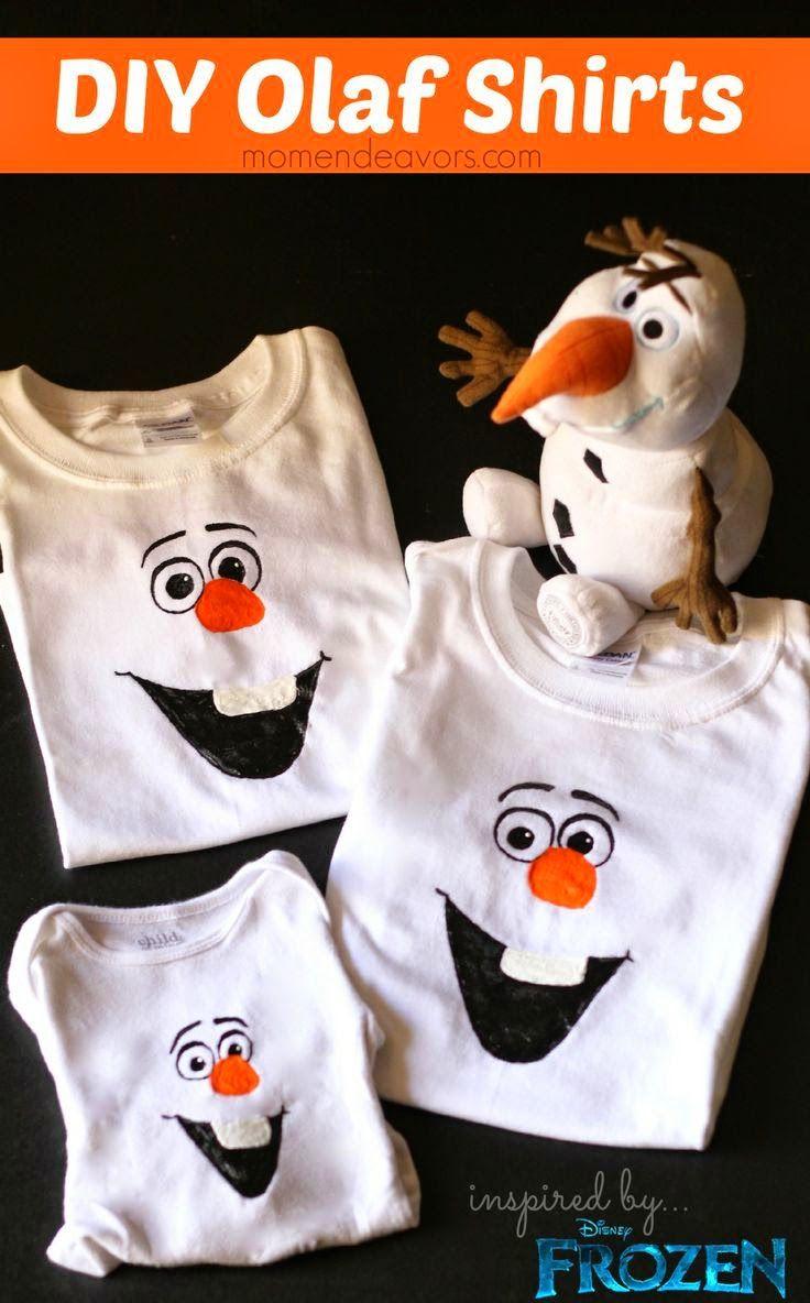 Festa Frozen: Como fazer uma camiseta do Olaf
