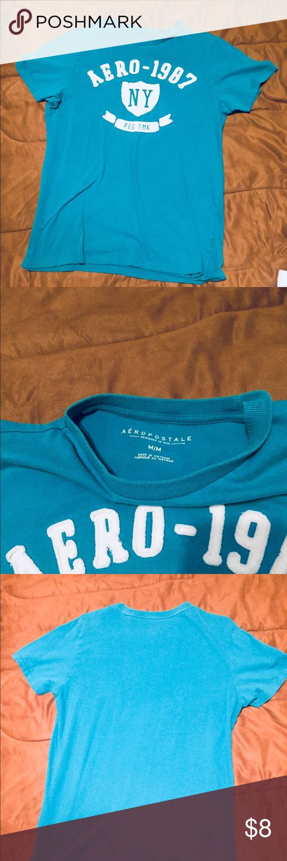 Men's Aero Medium T Shirt NWOT Men's Aeropostale Medium T Shirt - Turquoise Aeropostale Shirts Tees - Short Sleeve