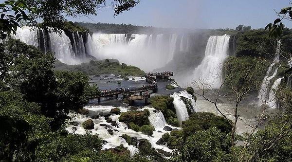 Iguazu Falls, Iguazu National Park near the southern Brazilian city of Foz do Iguacu.