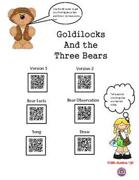 Goldilocks and the three bears writing activities