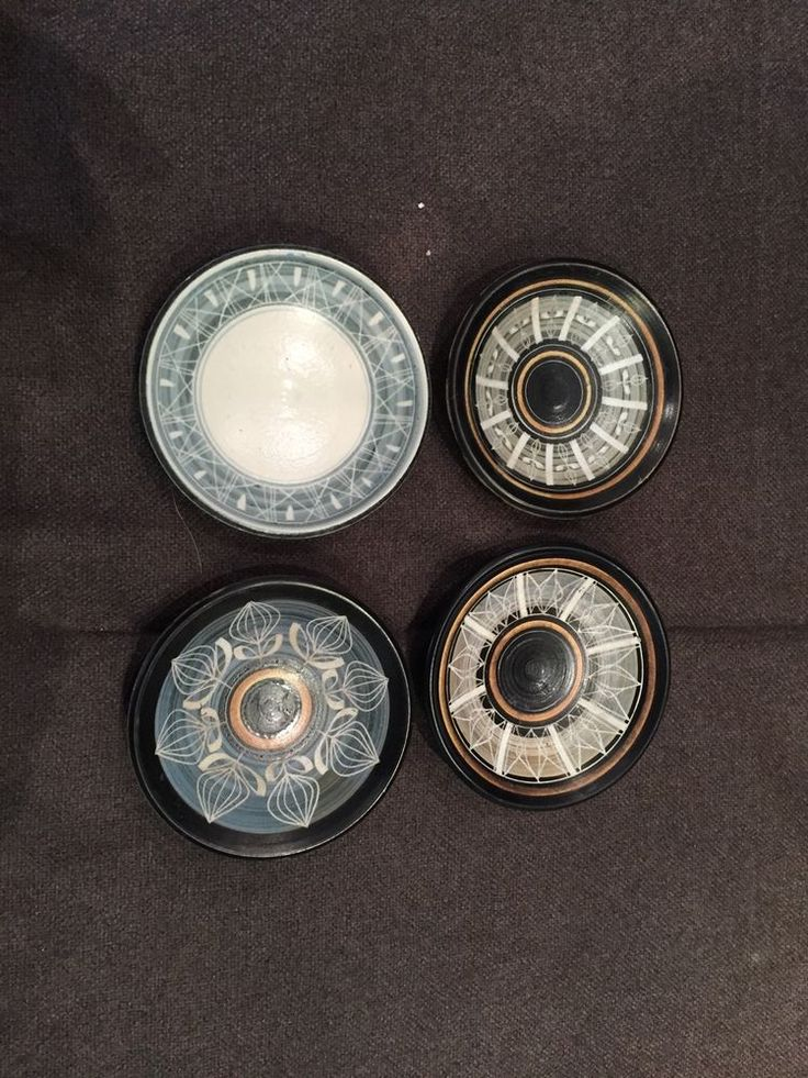 George Cook s Ambleside Pottery Pin Dishes. Early. Studio Pottery.
