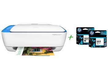 Multifuncional HP DeskJet Ink Advantage 3636 - Jato de Tinta Colorida Wi-Fi + 2 Cartuchos