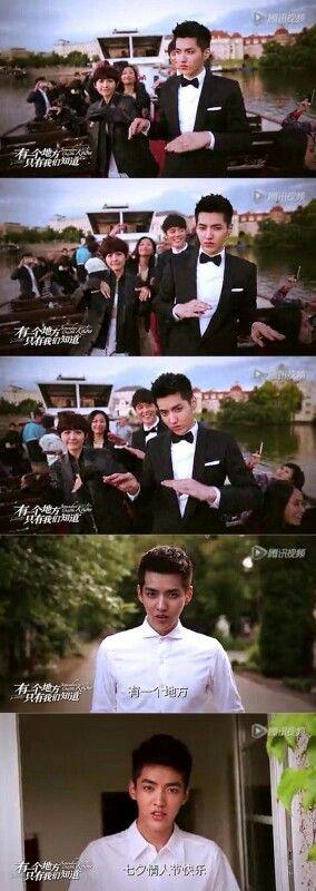 Wu Yi Fan. Día en San Valentin en China con el elenco de Somewhere only we know :)