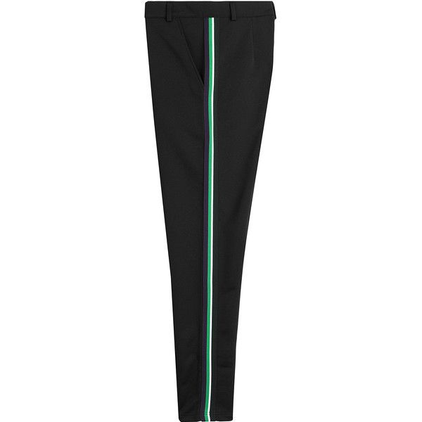 McQ Alexander McQueen Tux Sweatpants (2170 MAD) ❤ liked on Polyvore featuring men's fashion, men's clothing, men's activewear, men's activewear pants and black