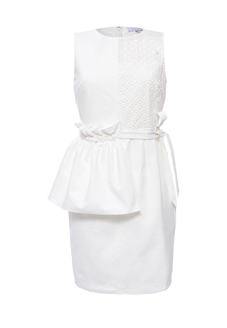 Платье LOST INK выполнено из мягкого текстиля. Модель прямого кроя. Детали: гладкая подкладка; круглый вырез; застежка на молнию; завязки на бант сбоку.