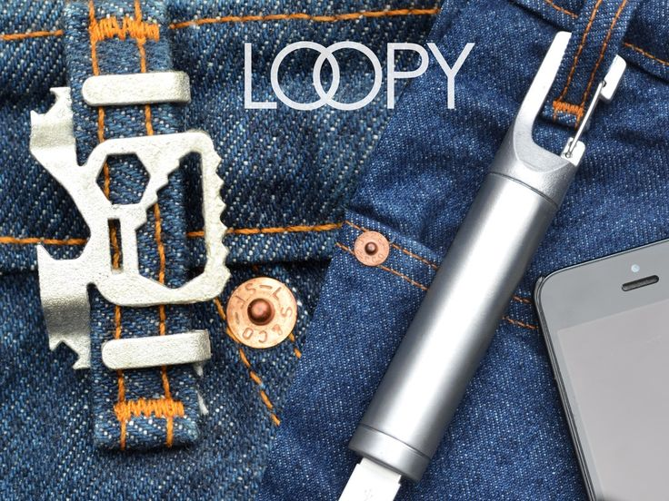 LOOPY multi-tools and backup battery attach to your belt loop for easy carry