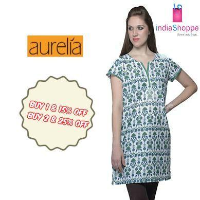 Enjoy classy and contemporary look with feminine overtones from the house of #Aurelia. http://goo.gl/pb7ZOq
