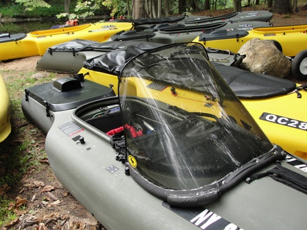 Mokai kayakboat has motor powerful enough to take you up for Fishing boat motor