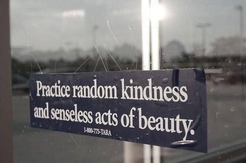 Praticate gentilezza a casaccio e atti di bellezza privi di senso