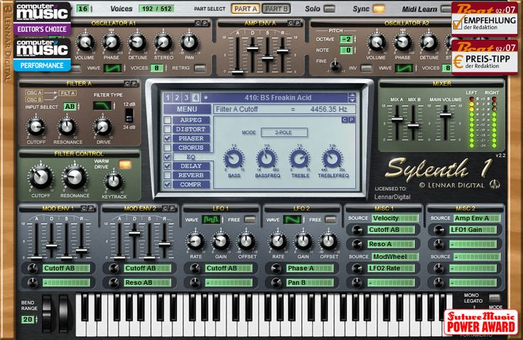 Sylenth1 by Lennard Digital. Gorgeous sounds. 139 Euros.
