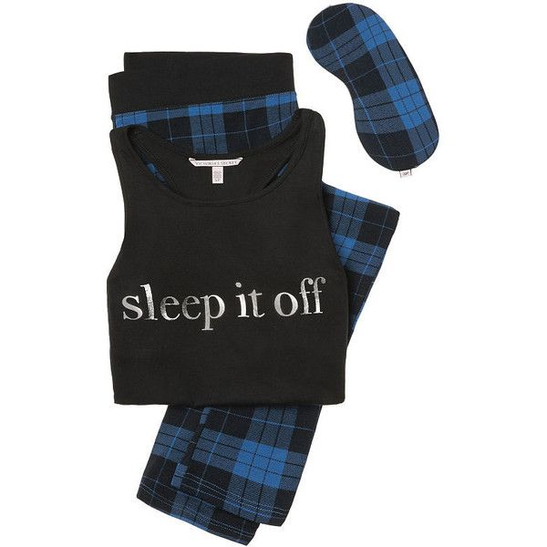 The Pillowtalk Tank and Legging Pajama - Victoria's Secret (1,075 EGP) ❤ liked on Polyvore featuring intimates, sleepwear, pajamas, victoria secret pajamas, victoria secret sleepwear, victoria's secret, victoria secret pyjamas and victoria secret pjs