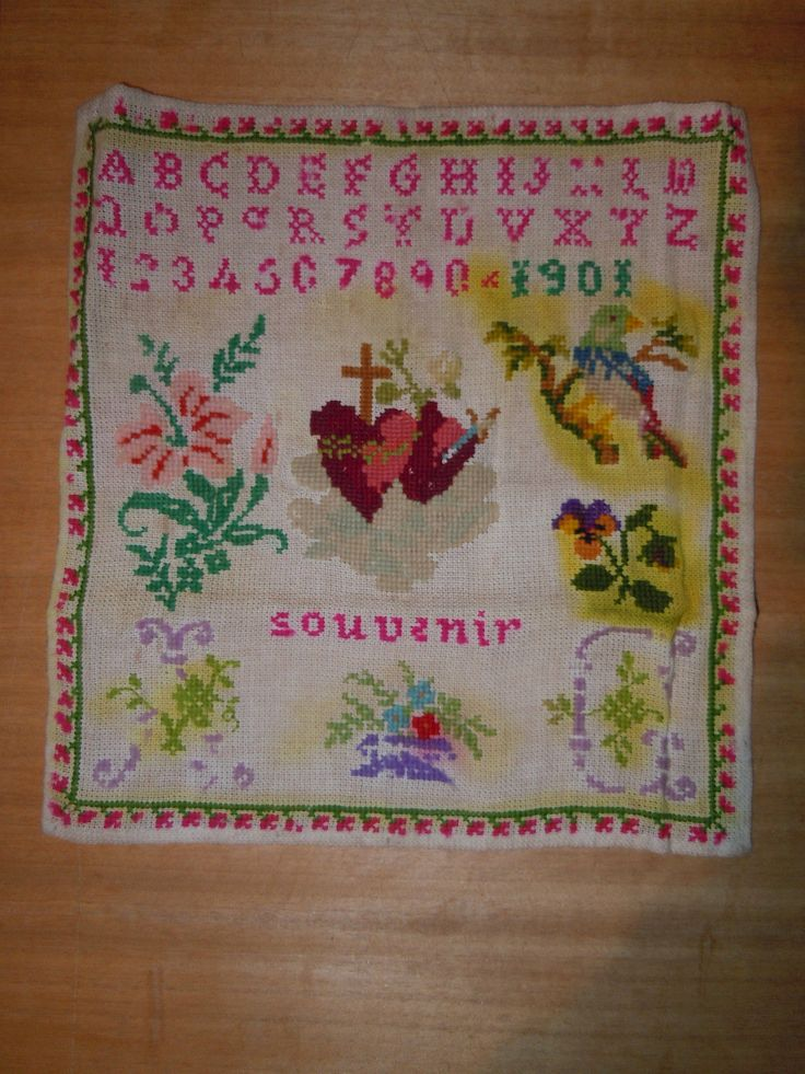 An Early 20th Century FRENCH Sampler Dated 1901    eBay