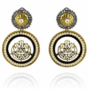 Mira Earrings http://blossomboxjewelry.com/e1299.html #jewelry #fashion #indian #style #designer #bollywood #earrings