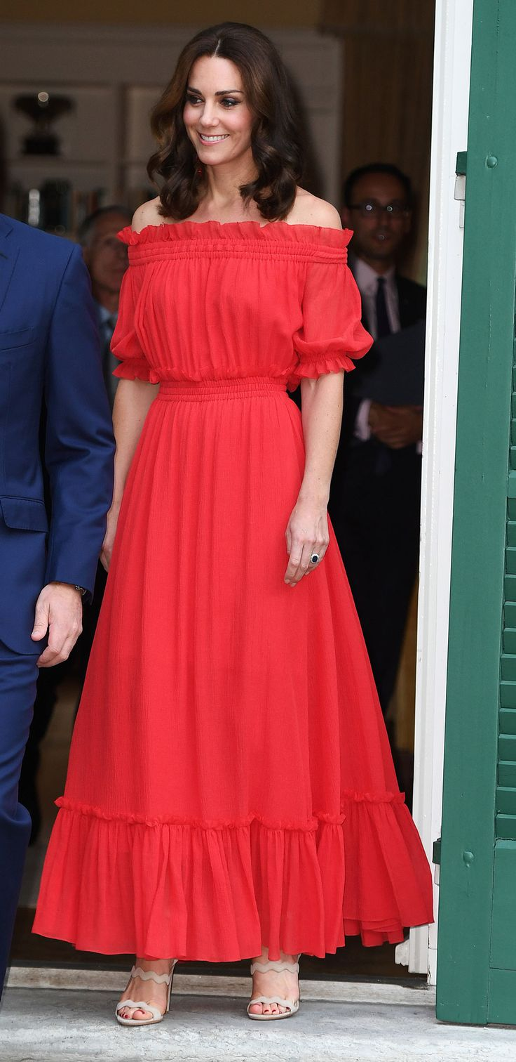 Catherine, Duchess of Cambridge attends The Queen's Birthday Party at the British Ambassadorial Residenceduring an official visit to Poland and Germany on July 19, 2017 in Berlin, Germany.