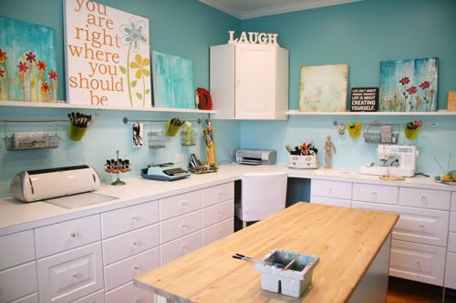 Some Amazing Craft Spaces on this site.