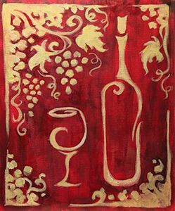 Decorative Wine *Paint Nite* Buy tickets at paintnite.com OR paint it yourself at a paint and sip at home with your girlfriends :)