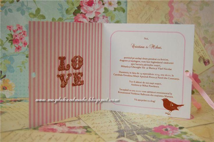 Handmade Wedding Invitations - Shabby Chic