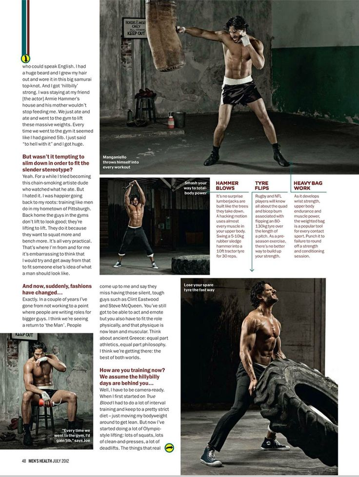 British Men's Health gets the Joe Manganiello Workout