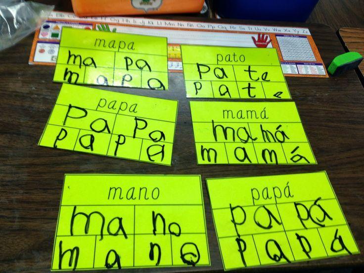 Work Work in a bilingual classroom