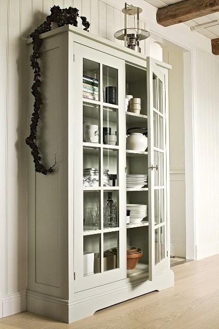 Anna & Beau's Stunning Range of grey display cabinets. Cream display cabinets, white display cabinets