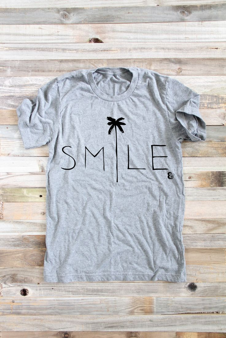 Smile Beach Shirt- Women's Shirts - Surfer Girl - Women's Clothing - Shirts for Women - Graphic T - Surf Shirt - Surfer Shirt - Beach Shirt by PowderAndSea on Etsy https://www.etsy.com/listing/254319311/smile-beach-shirt-womens-shirts-surfer