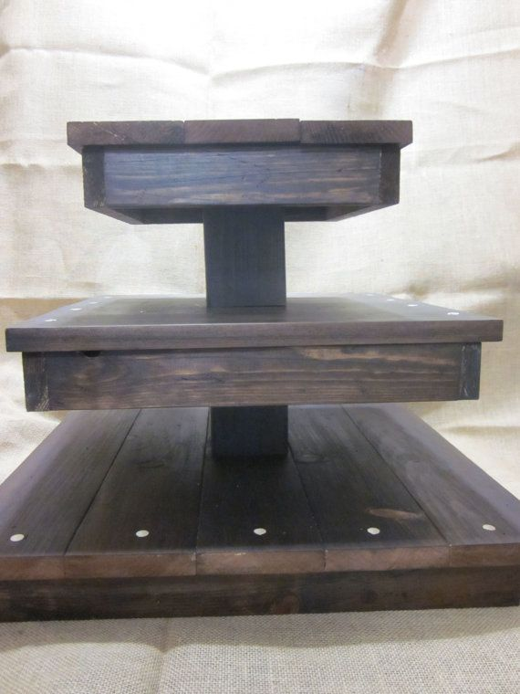 The Rustic Cupcake Stand and Cake Stand van TheRusticCart op Etsy, $90.00