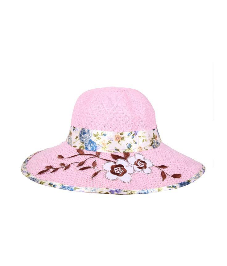 Jstarmart Pink Polyester Fidora Hat For Women