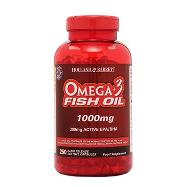 Holland & Barrett Omega 3 Fish Oil Concentrate Capsules 1000mg
