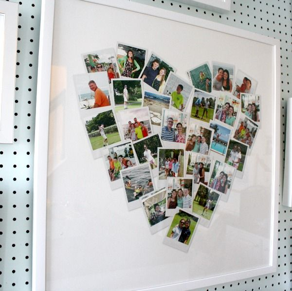 Great idea to make heart art out of Instagram pics.