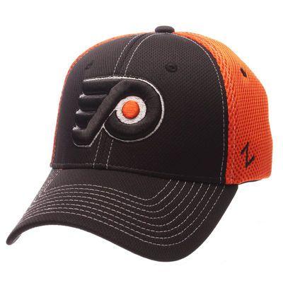 Philadelphia Flyers Zephyr Rally Spacer Mesh Flex Hat - Black/Orange