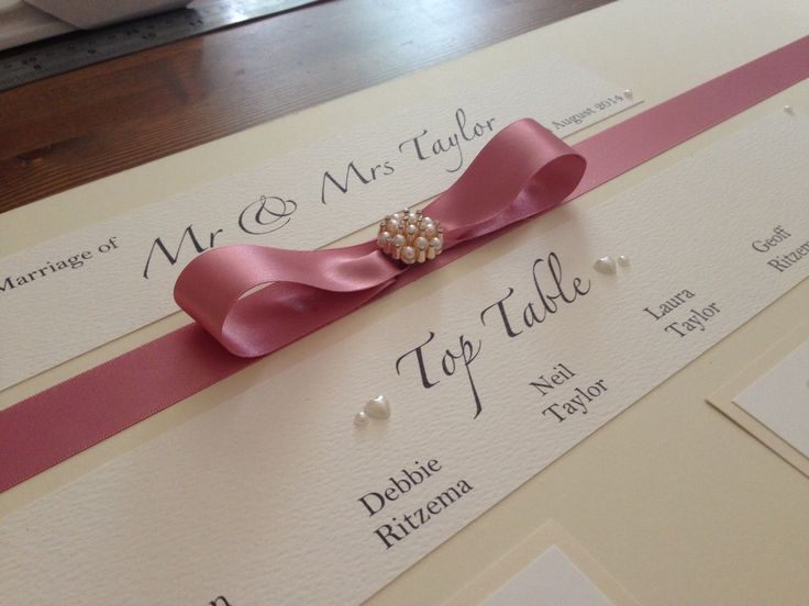 Dusky pink and cream Table Plan xx