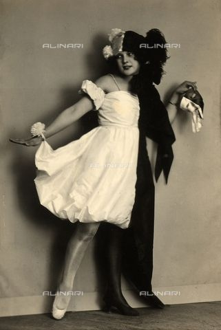 Portrait of Wanda Wulz dressed up with a costume 1920-1929 (c)Fratelli Alinari Museum Collections-Studio Wulz Archive, Florence