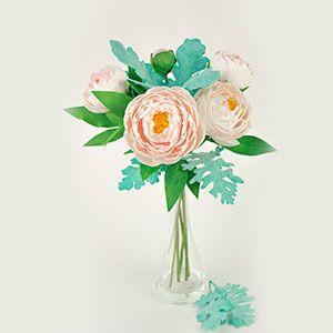 """Онлайн-курс """"Цветочная композиция с цветами пиона и листьями цинерарии"""" ::Автор Марина Мартьянова"""